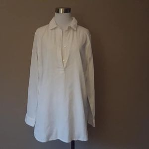 L / J. McLaughlin / Shirt / White Pullover